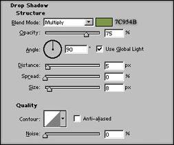 Прилагане на Drop Shadow